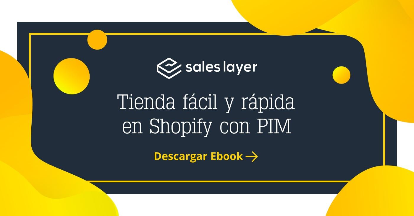 Cómo crear una tienda online en Shopify con un PIM