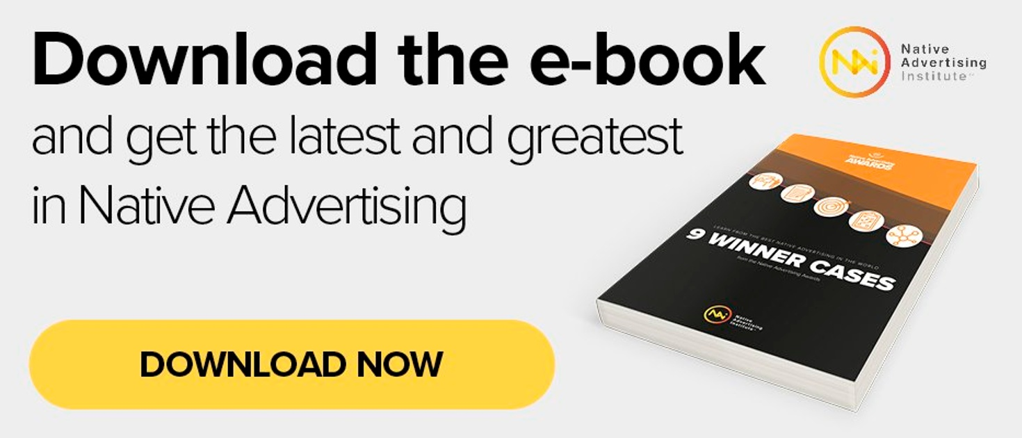 Download e-book: 9 Winner Cases from the Native Advertising Awards