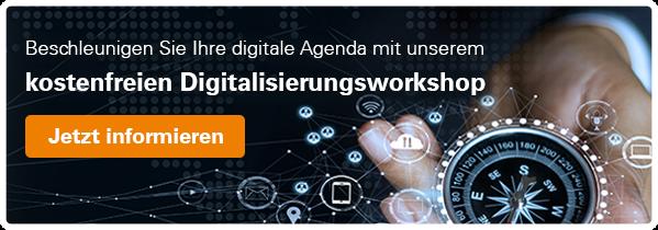 Beschleunigen Sie Ihre digitale Agenda mit unserem kostenfreien Digitalisierungsworkshop