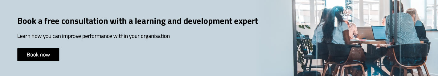 Book your free consultation with a learning and development specialist