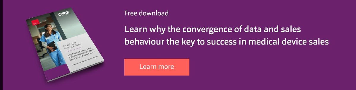 Learn why the convergence of data and sales behaviour the key to success in medical device sales.