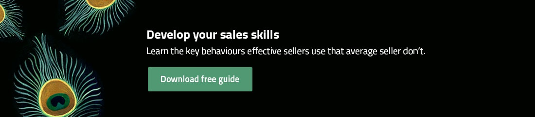 Develop your sales skills and learn the effective behaviours effective sellers use that average sellers don't.