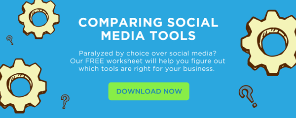 Compare social media tools worksheet