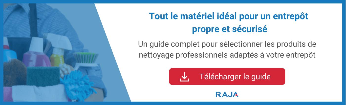 Guide des produits de nettoyage professionnel pour l'entrepôt