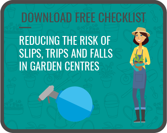 southalls reducing risk of slips trips and falls in gardenc entres