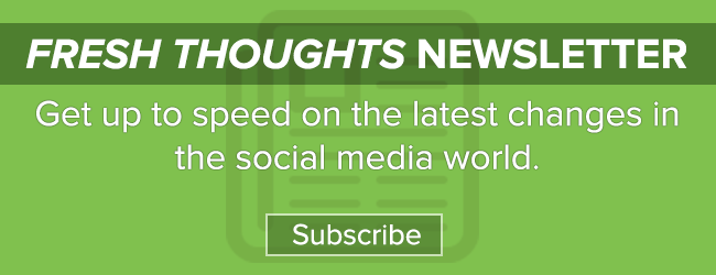 Sign up for our Fresh Thoughts Newsletter
