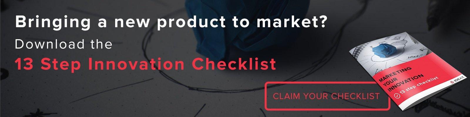 product innovation checklist