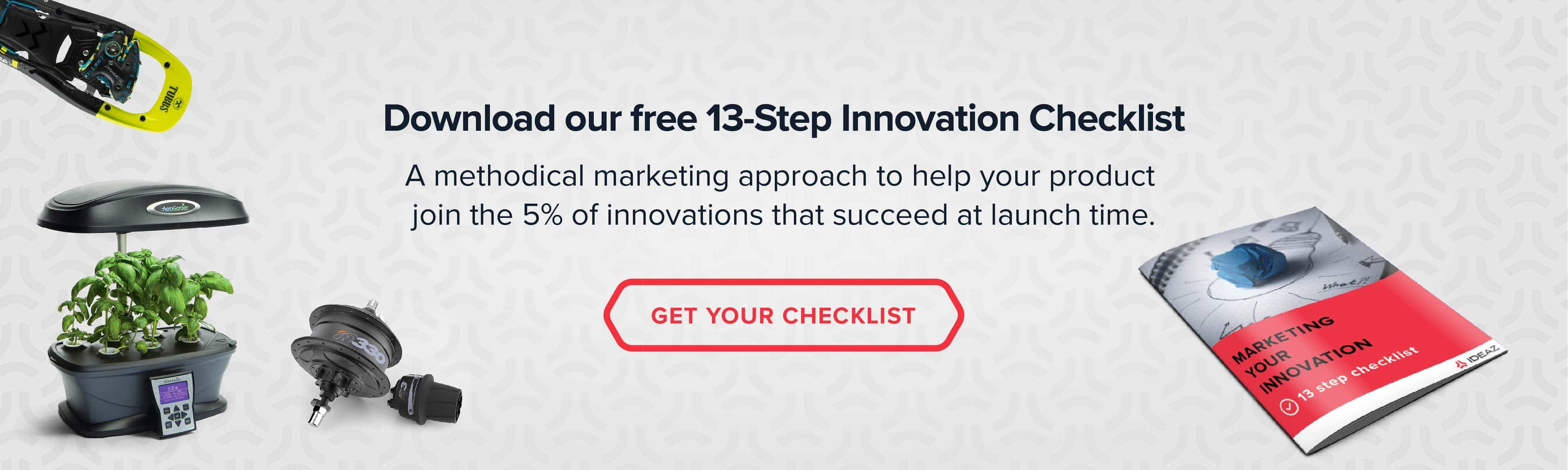 Download your free 13-Step Innovation Checklist