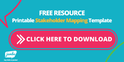 Printable stakeholder map canvas for stakeholder mapping