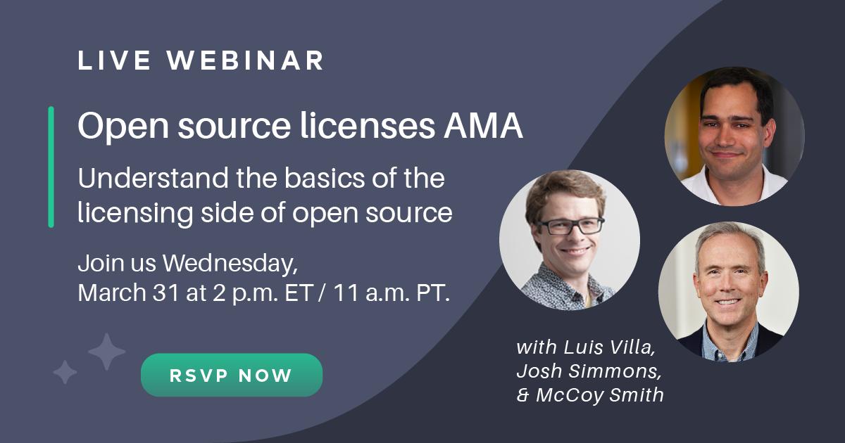 Live webinar: Open source licenses AMA