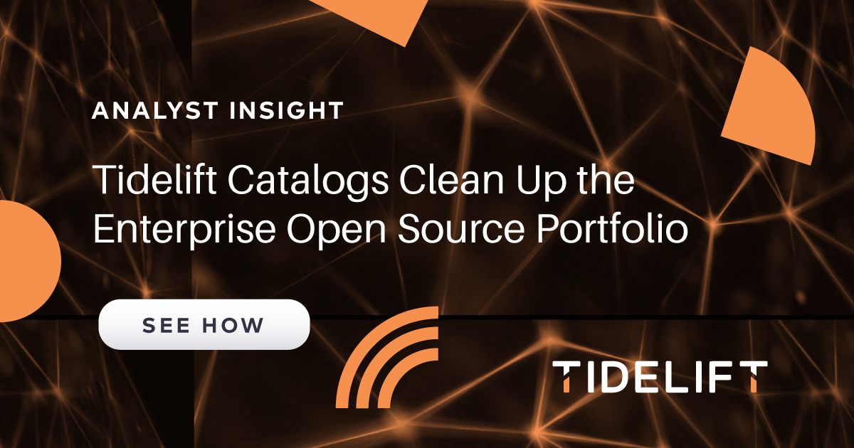 Amalgam Insight report: Tidelift Catalogs Clean Up Enterprise Open source Portfolio