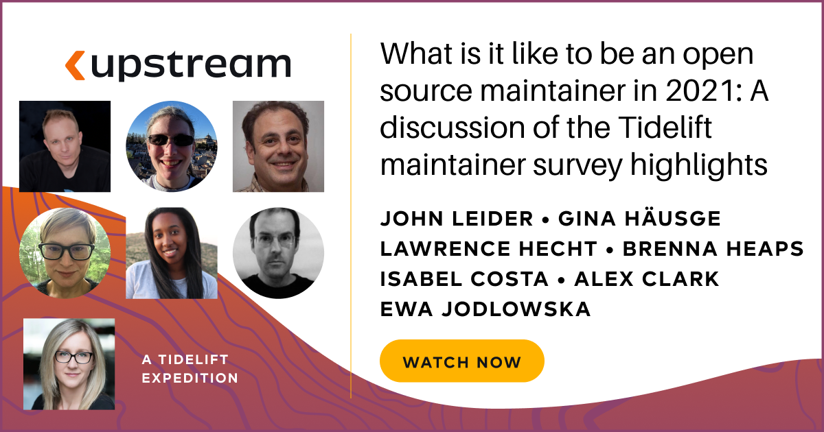 What is it like to be an open source maintainer in 2021
