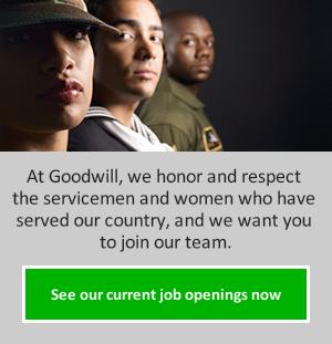 Goodwill Jobs for Veterans