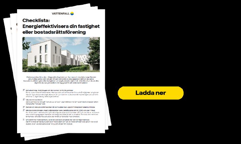 Checklista energieffektivisering fastighet bostadsrättsförening