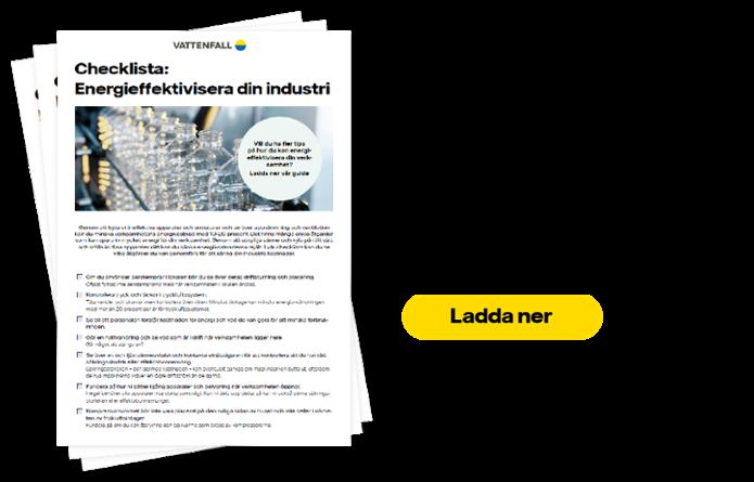 Checklista energieffektivisering industri