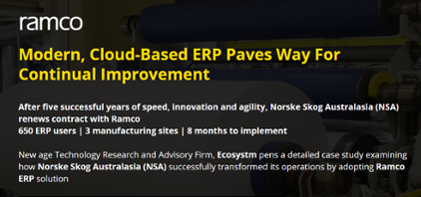 Case Study - Modern, Cloud-Based ERP Paves Way For Continual Improvement(Ramco)