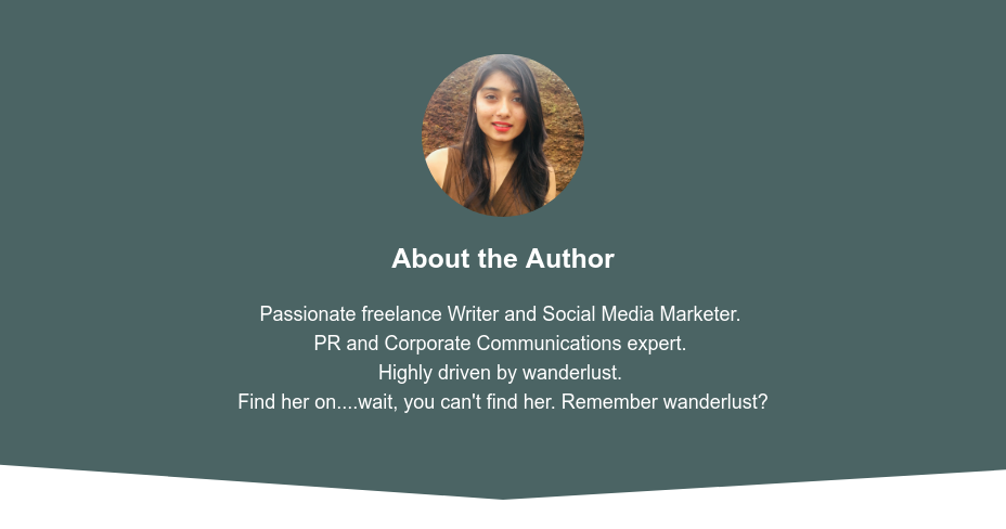About the Author  Passionate freelance Writer and Social Media Marketer.  PR and Corporate Communications expert.  Highly driven by wanderlust.  Find her on....wait, you can't find her. Remember wanderlust?