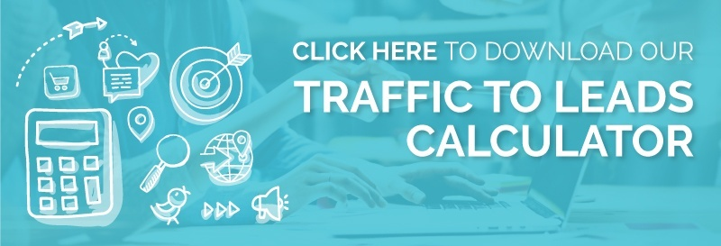 inbound marketing traffic to leads calculator