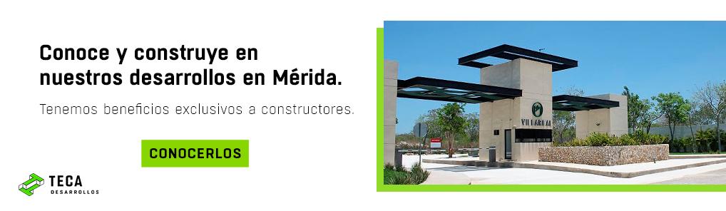 Llamado a la acción para conocer desarrollos de Teca en Mérida