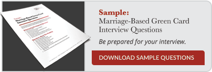 Marriage-Based Green Card Interview Questions