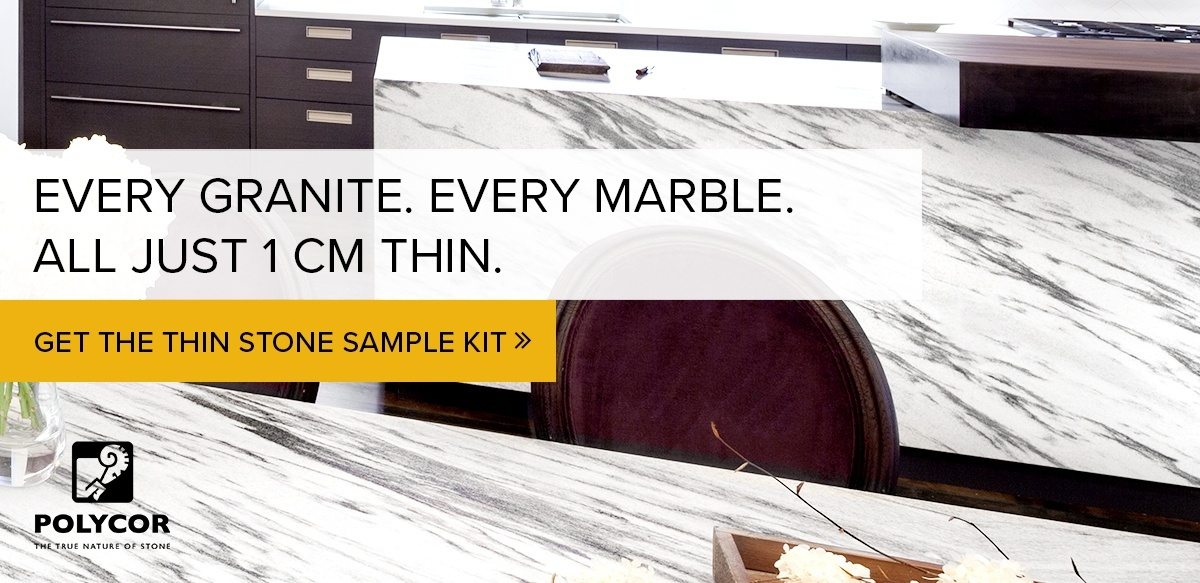 Every granite. Every marble. All just 1 cm thin. Get the thin stone sample kit.