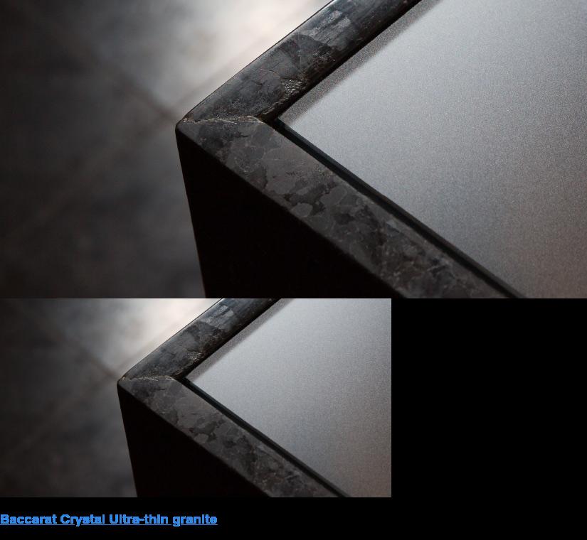 Polycor granite and Baccarat crystal