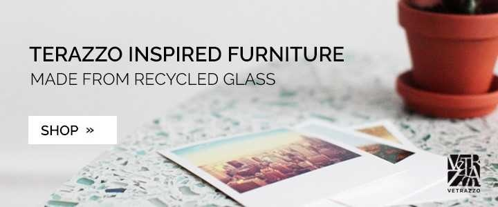 Terrazzo Inspired Furniture Made From Recycled Glass