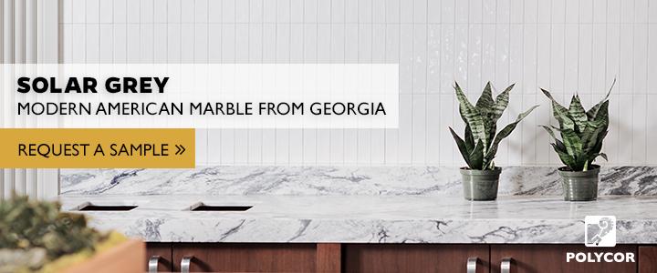 solar grey marble polycor sample