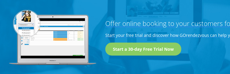 Offer online booking to your customers for free Start your free trial and  discover how GOrendezvous can help you increase your revenues.Start a 30-day  Free Trial Now