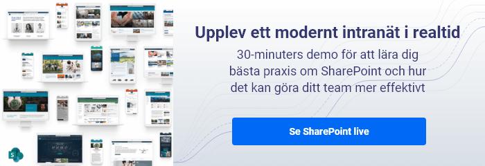 Omslagsbild till länkknapp om SharePoint-demo