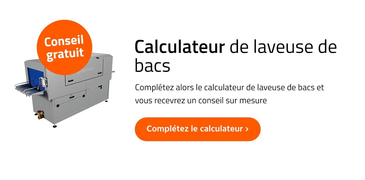 le Calculateur de laveuse de bacs