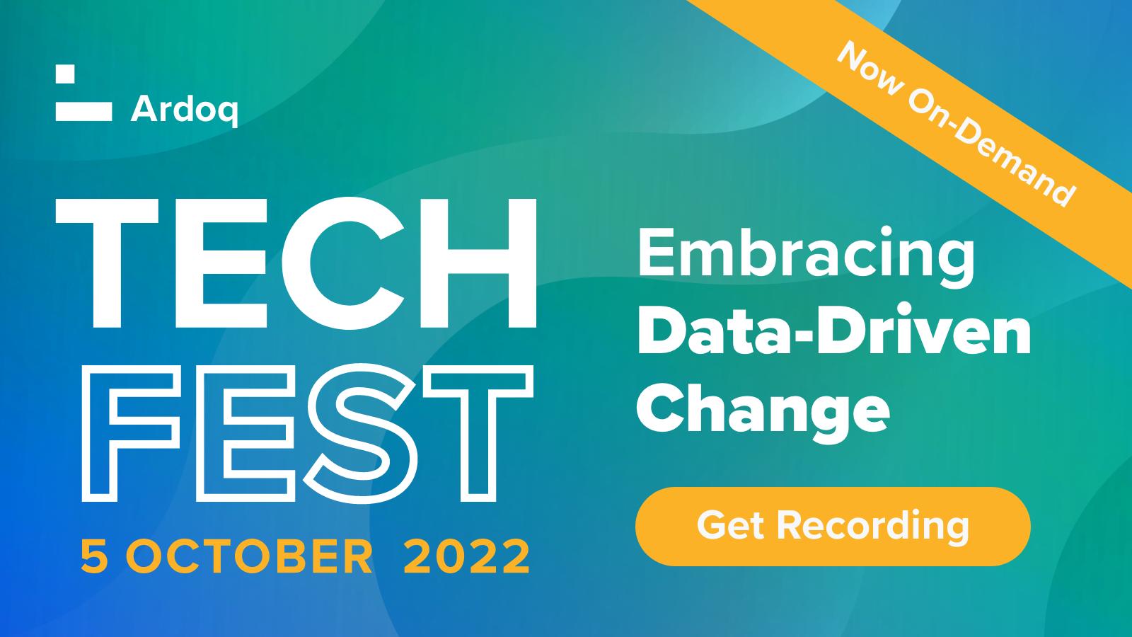 Ardoq Tech Fest 2021 Embracing Data-Driven Change
