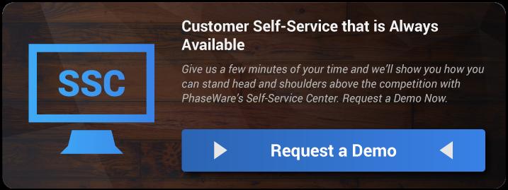Self Service Center Demo