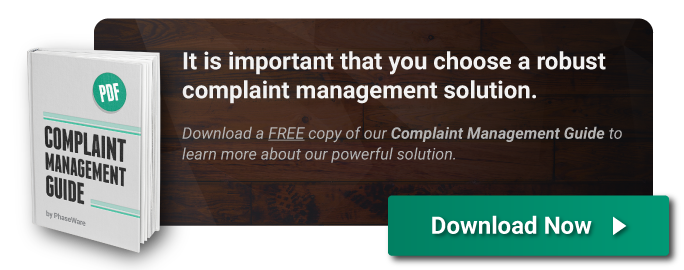 Complaint Management Guide