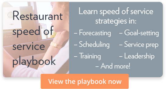Restaurant speed of service playbook - Download it now!