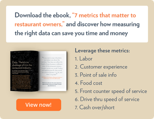 Download the ebook, '7 metrics that matter to restaurant owners,' and discover how measuring the right data can save you time and money