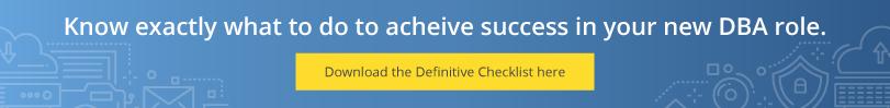 New DBA checklist