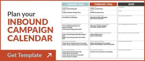 Campaign Planning Calendar Template