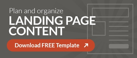 landing page content template