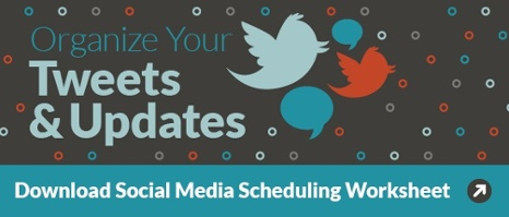 Social Media Scheduling Worksheet