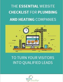 website checklist for plumbing and heating companies