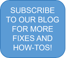 blog subscription for fixes and how-tos CTA