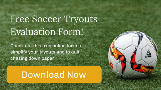 Soccer Tryout with Soccer Ball