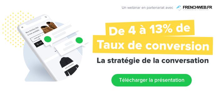 Webinar iAdvize en partenariat avec FrenchWeb.fr : la stratégie de la conversation, de 4% à 13% de taux de conversion