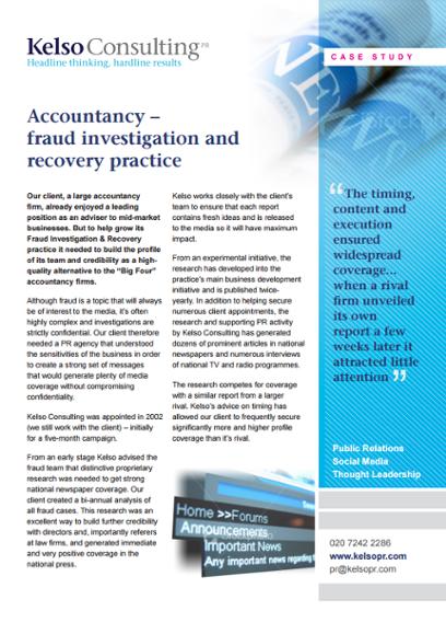 accountancy public relations case study