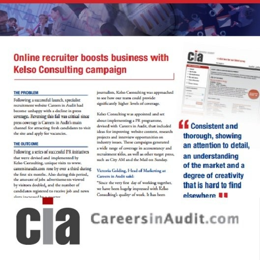 Public Relations campaign for online accountancy recruiter