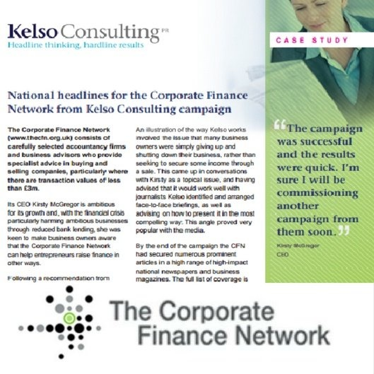 public relations corporate finance case study