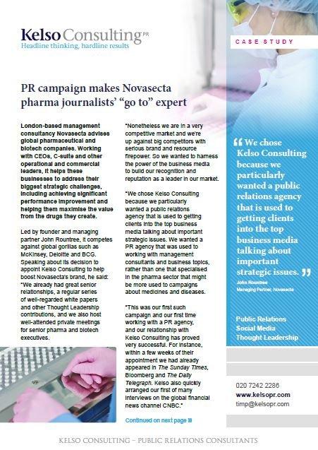 management consultancy PR case study