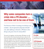 Public relations disasters psychology white papers