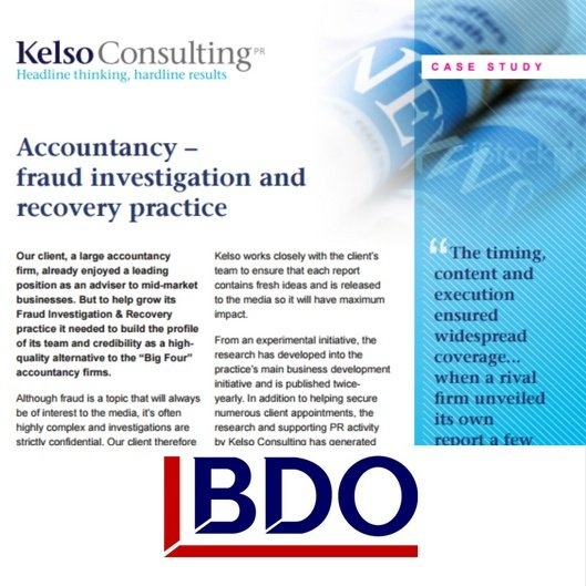 public relations case study - forensic accountancy- fraud investigator